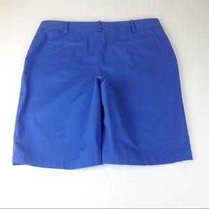 Talbots Shorts - Talbots Stretch Bermuda Shorts Blue Sz 12